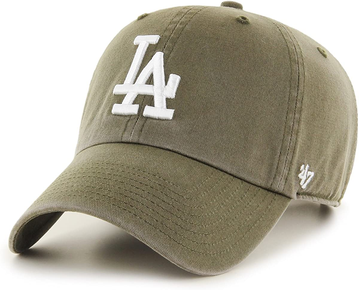 47 Gorra Brand MLB Los Angeles Dodgers Clean Up Verde Ajustable ...