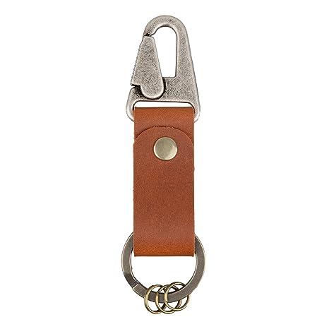 Amazon.com: Cinturón de piel llavero Pob Rein langosta Snap ...