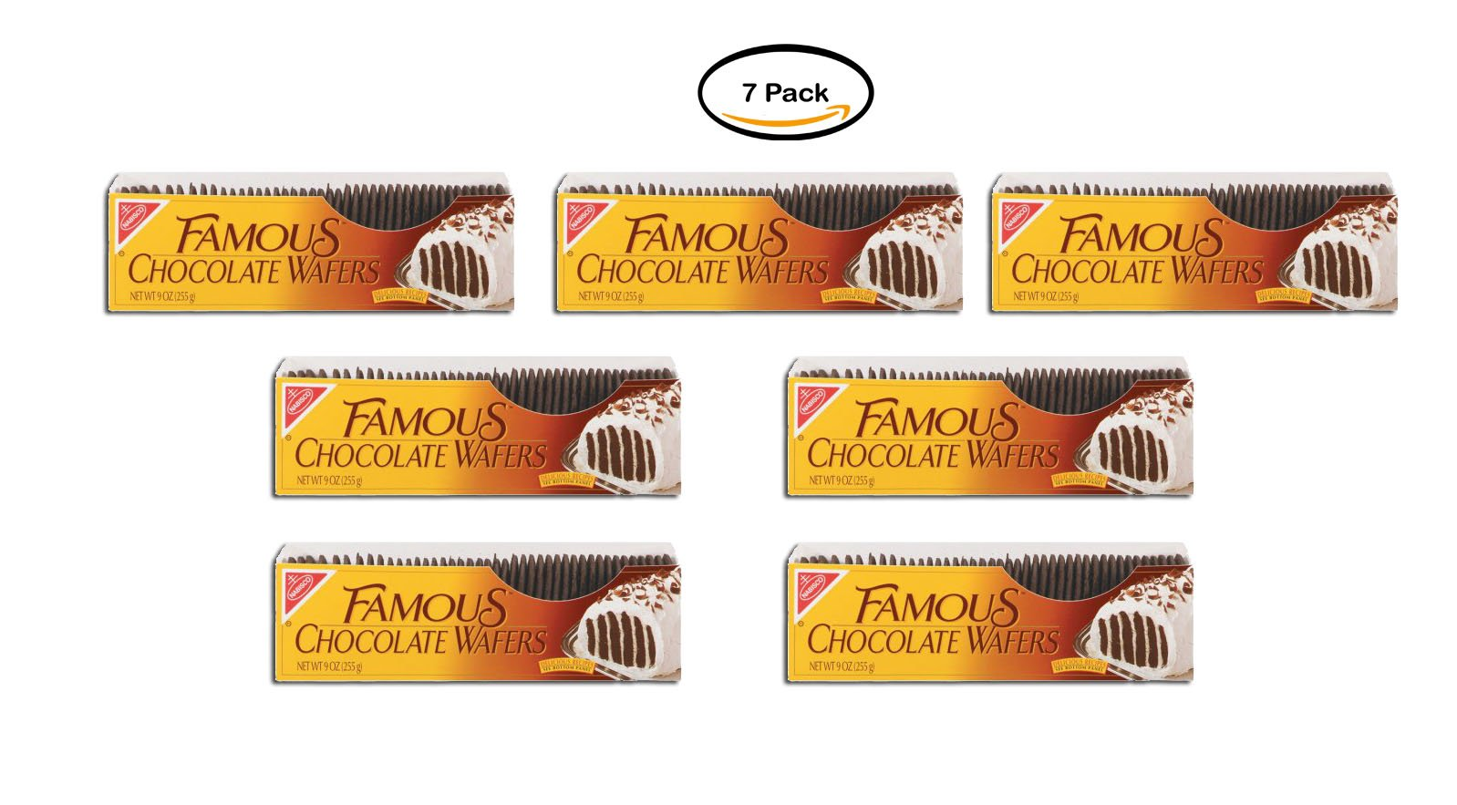 PACK OF 7 - Nabisco Famous Chocolate Wafers, 9 oz