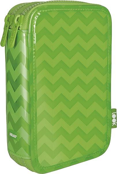 Milan Look 3 Estuches, 20 cm, Verde: Amazon.es: Oficina y papelería