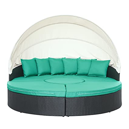 Amazon Com Modway Quest Circular Outdoor Wicker Rattan Patio