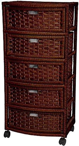 Oriental Furniture 37″ Natural Fiber Chest of Drawer