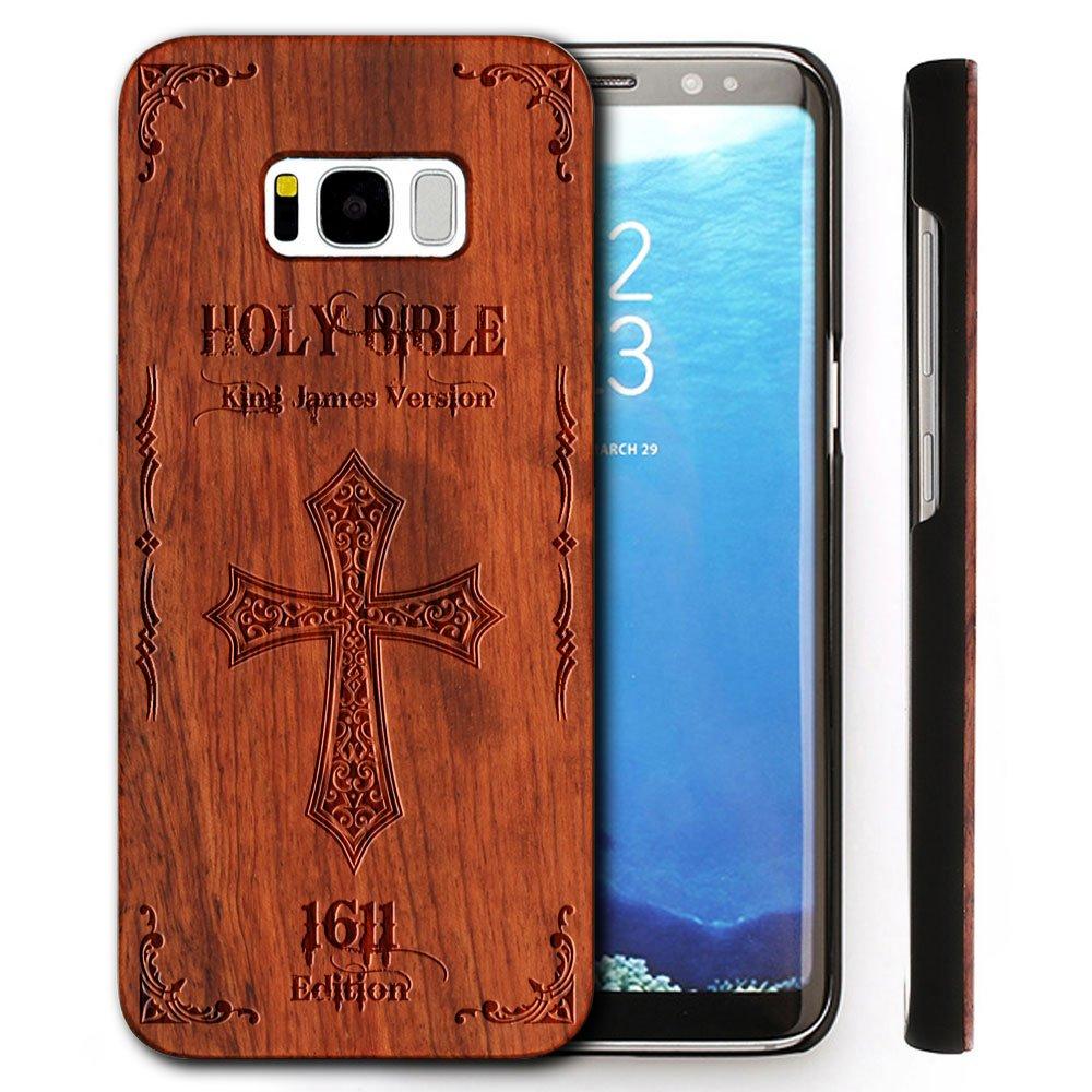 YUANQIAN Echt Holz Schutzhülle für Samsung: Amazon.de: Elektronik
