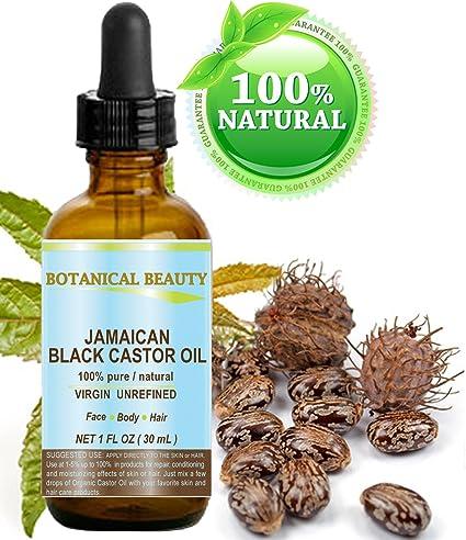 Negro aceite de ricino Jamaica. 100% puro/Natural/Virgin/prensado ...