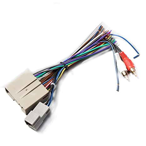 amazon com redwolf car stereo radio wiring harness head unit video Wrangler Wire Harness