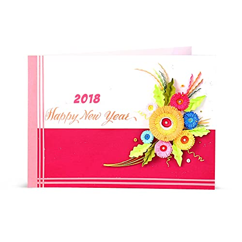 Greeting cards for new year buy greeting cards for new year online handcrafted emotions handmade quilled new year greeting card m4hsunfo