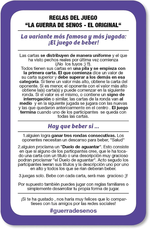 GUERRA DE SENOS - El juego divertido de beber con poca clase - Artículos de broma: Amazon.es: Juguetes y juegos