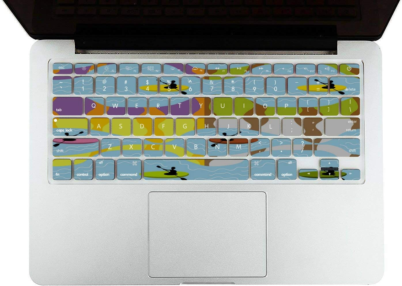 Mackbook Case Rowing Hand-Painting Sports Custom Plastic Hard Shell Compatible Mac Air 11 Pro 13 15 MacBook Pro Protective Case Protection for MacBook 2016-2019 Version