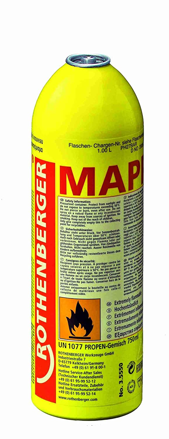 Rothenberger Mapp Gas 750 Ml Business Industry Science