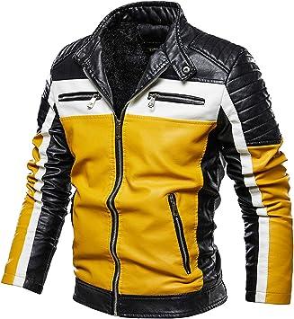 メンズコート・ジャケット-オートバイのジャケット、ぬいぐるみ、革のジャケット