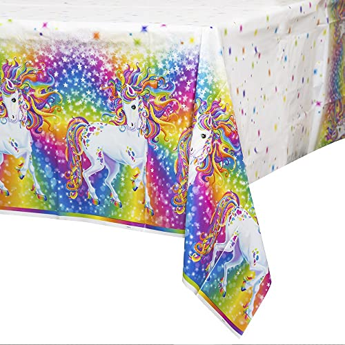 Rainbow Majesty by Lisa Frank Plastic Tablecloth 84 x 54