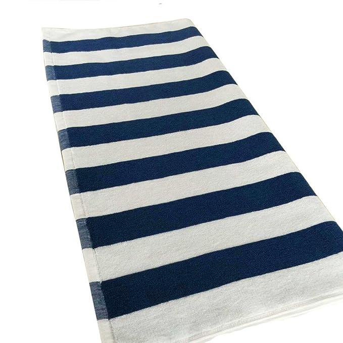 Algodón Barras Azules Y Blancas Toallas De Playa Engrosamiento Barras De Color Hoteles Grandes Toallas Absorbentes, BlueAndWhite-75*150-650G: Amazon.es: ...