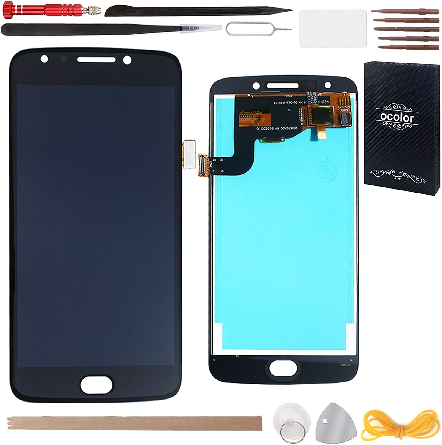 HYYT Replacement For Motorola MOTO E4 XT1767 US Version LCD Screen Display and Touch Screen Digitizer Glass Replacement
