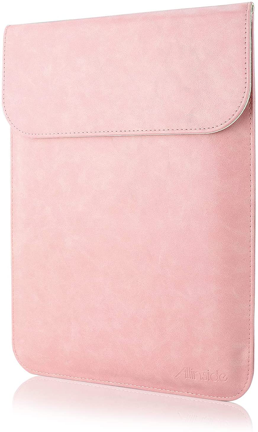 "Allinside 11-12"" Laptop Sleeve for MacBook Air 11 / MacBook 12, Synthetic Leather, Pink"