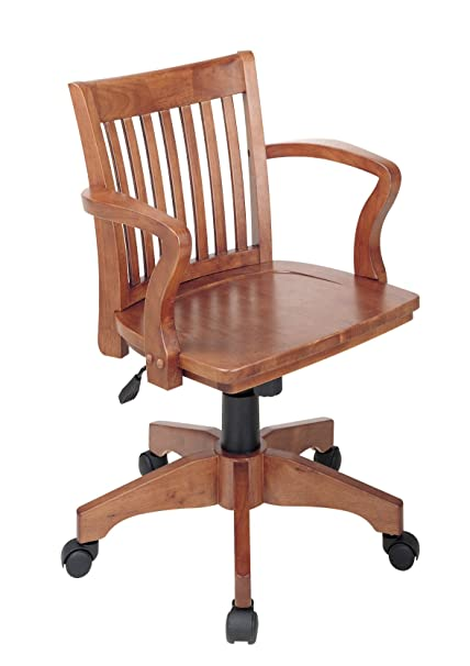 Old office chair Bedroom Image Unavailable Amazoncom Amazoncom Office Star Deluxe Wood Bankers Desk Chair With Wood