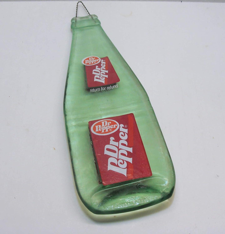Vintage Dr Pepper Soda Melted Flat 10oz Bottle Spoon Rest Bar Cutting Board
