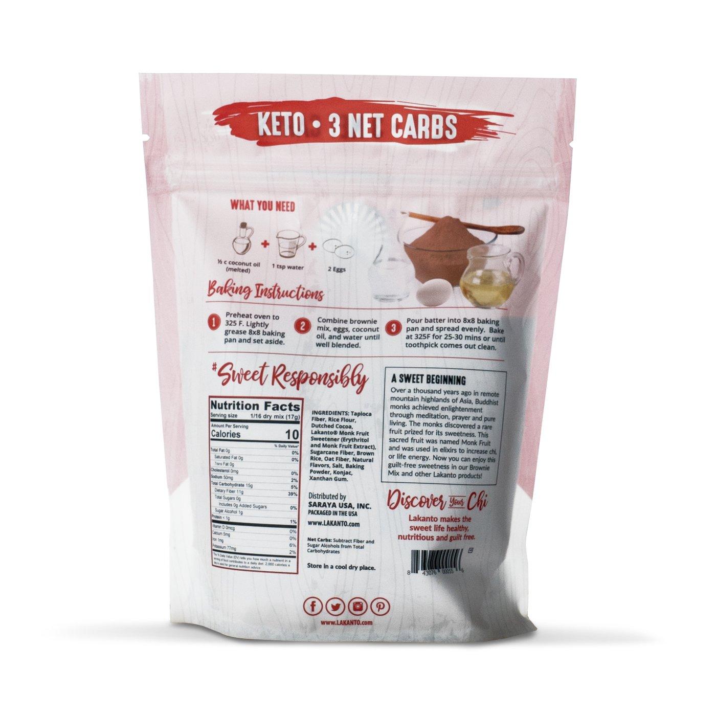 Lakanto Sugar-Free Brownie Mix | 3 net carbs | (Gluten-Free, 16 Servings) by Lakanto (Image #2)