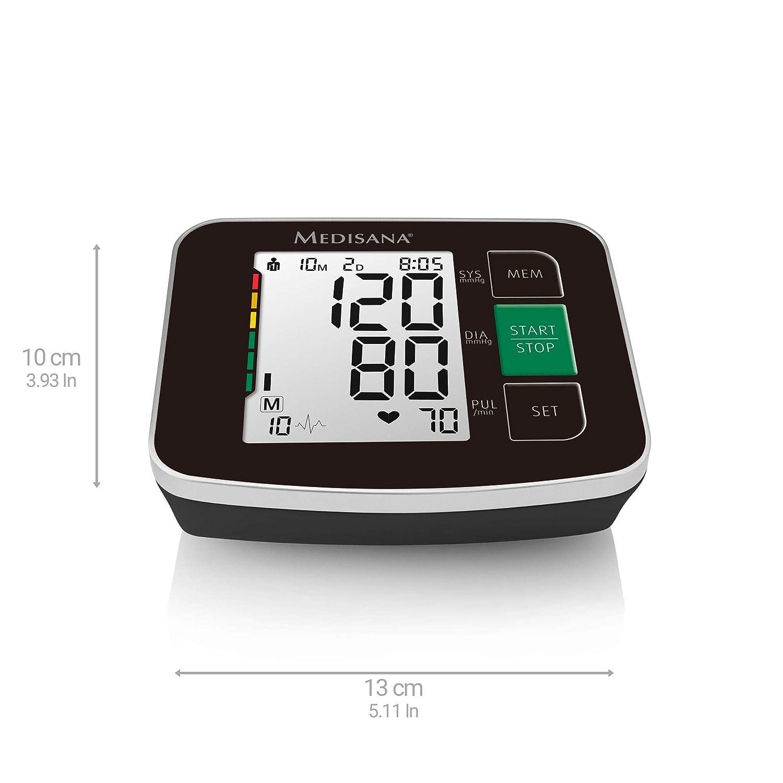 Medisana 51166 Medisana BU 516 Tensiómetro de brazo, - Tensiómetro con arrhythmie de pantalla y Who Escala de semáforo de color, para una presión arterial ...