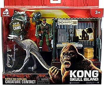 Lanard Batalla de isla de calavera de kong por criatura de supervivencia: Amazon.es: Juguetes y juegos