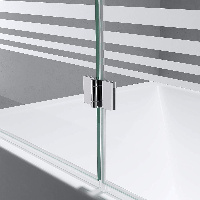 Mampara de cristal para bañera, ancho 117 cm x alto 141 cm, bañera ...