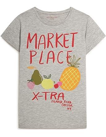 027bec891809c MONOPRIX KIDS - T-Shirt Manches Courtes imprimé - Fille - Taille   9 ...