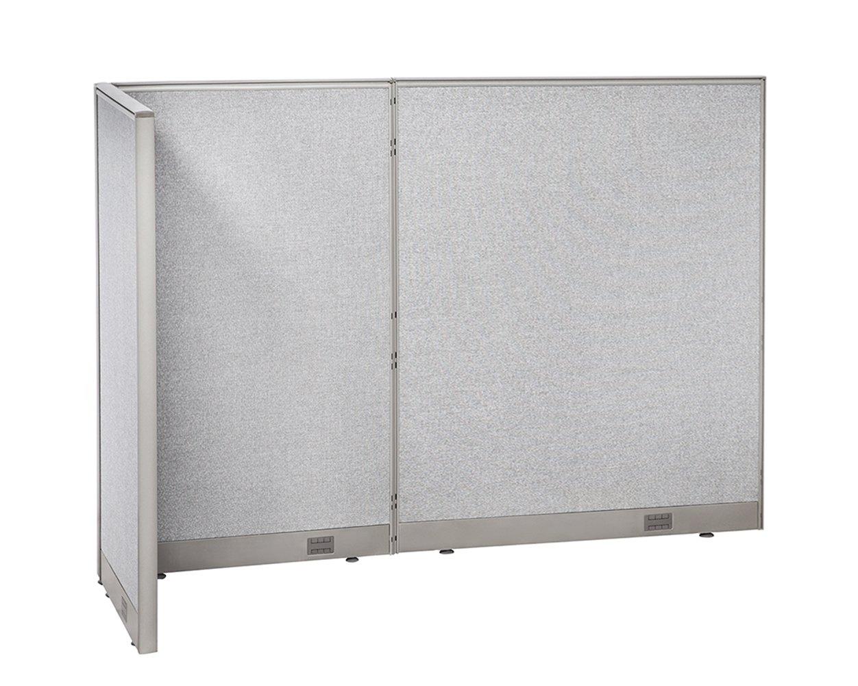 GOF L-Shaped Freestanding Partition 30D x 84W x 60H / Office, Room Divider 2.5' x 7' (30D x 84W x 60H)