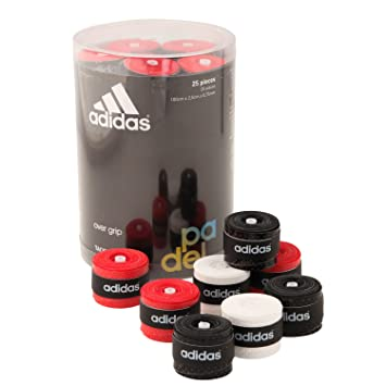 Accesorio Padel adidas 25 unidades de overgrip blanco, negro y rojo: Amazon.es: Deportes y aire libre