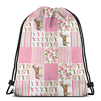 0ae2910a127e Amazon.com | 6Cotton Floral Horse Cheater_7706 Custom Drawstring ...