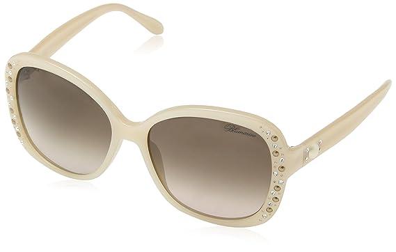 BlueMarine Damen Sonnenbrille Sbm648T, Braun (Yellow Havana/Dark/Brown), Einheitsgröße