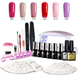 Modelones Gel Nail Polish Starter Kit with Mini LED Lamp