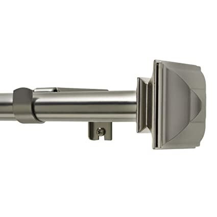 Kenney Classic Square Curtain Rod Set 66 120 3 4