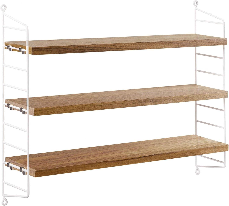 Estanter/ía 60x50x15cm arena//2 paneles laterales String Pocket 3 baldas