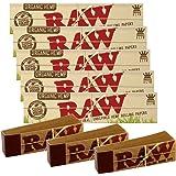 """RAW - Papel de liar (tamaño """"king"""", 5 paquetes de papelinas y 3 libritos de puntas)"""