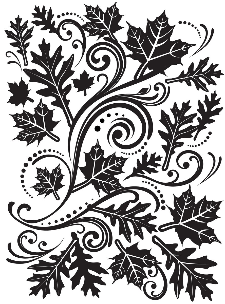 Darice Embossing Folder 4.25X5.75 Fall Leaf Background