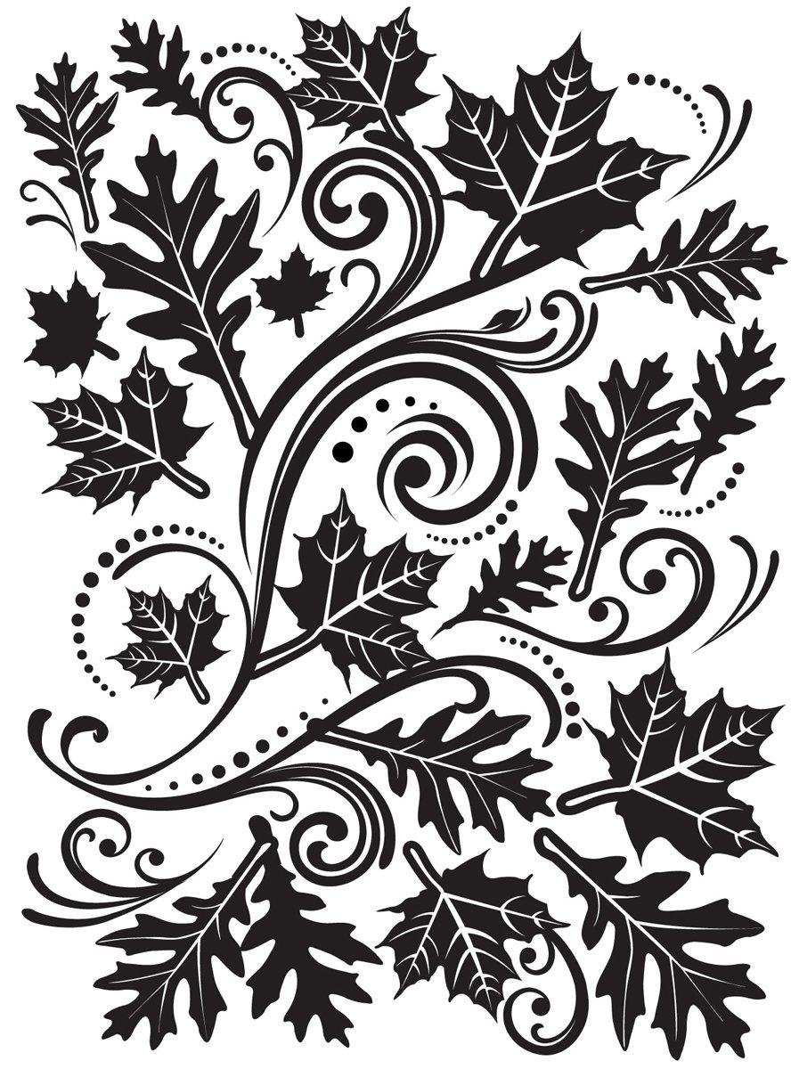 Darice Embossing Folder 4.25-Inchx5.75-Inch-Fall Leaf Background 1218-33