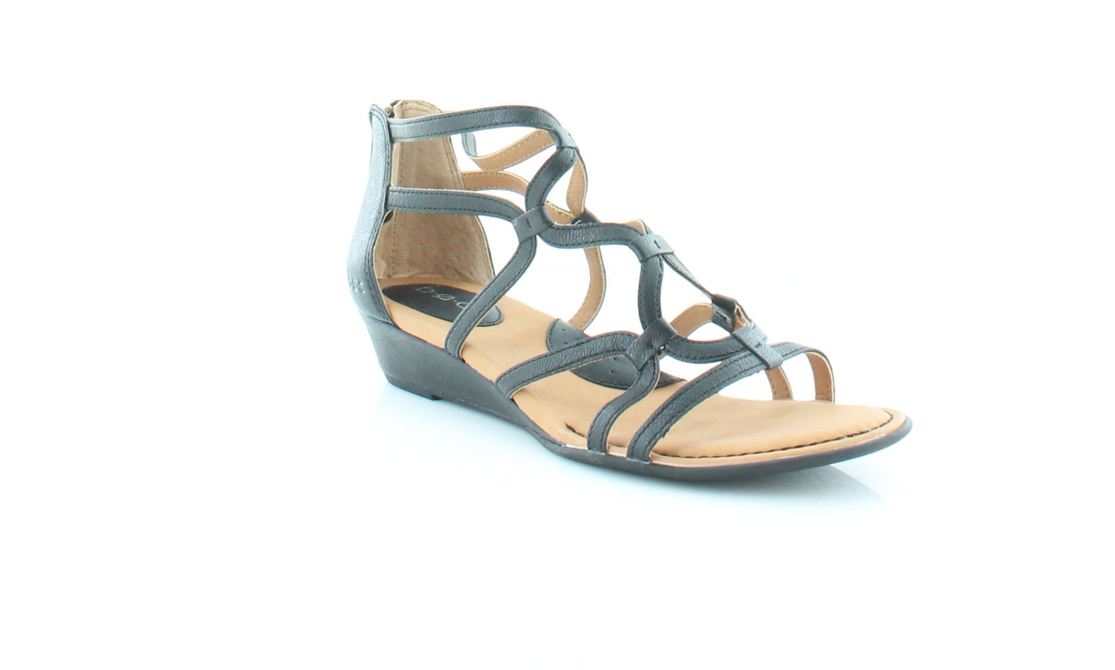 B.O.C. Womens Pawel Open Toe Casual Gladiator Sandals, Black, Size 8.0