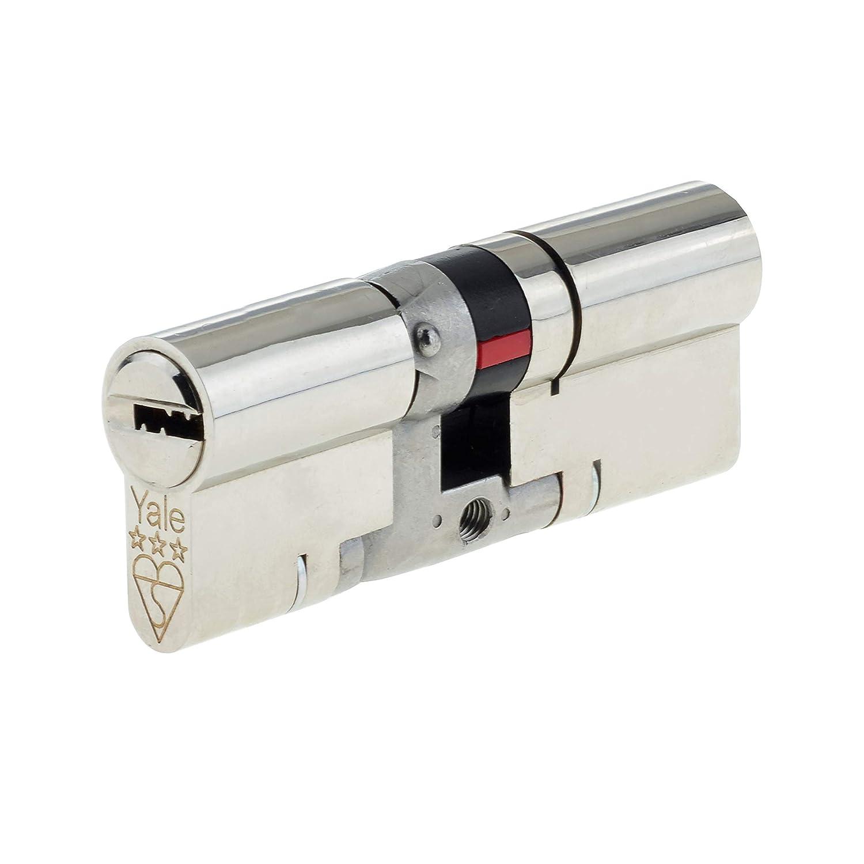 Cilindro de perfil europeo de 3 estrellas Yale Platinum PYS35050N 45//10//45-100 mm