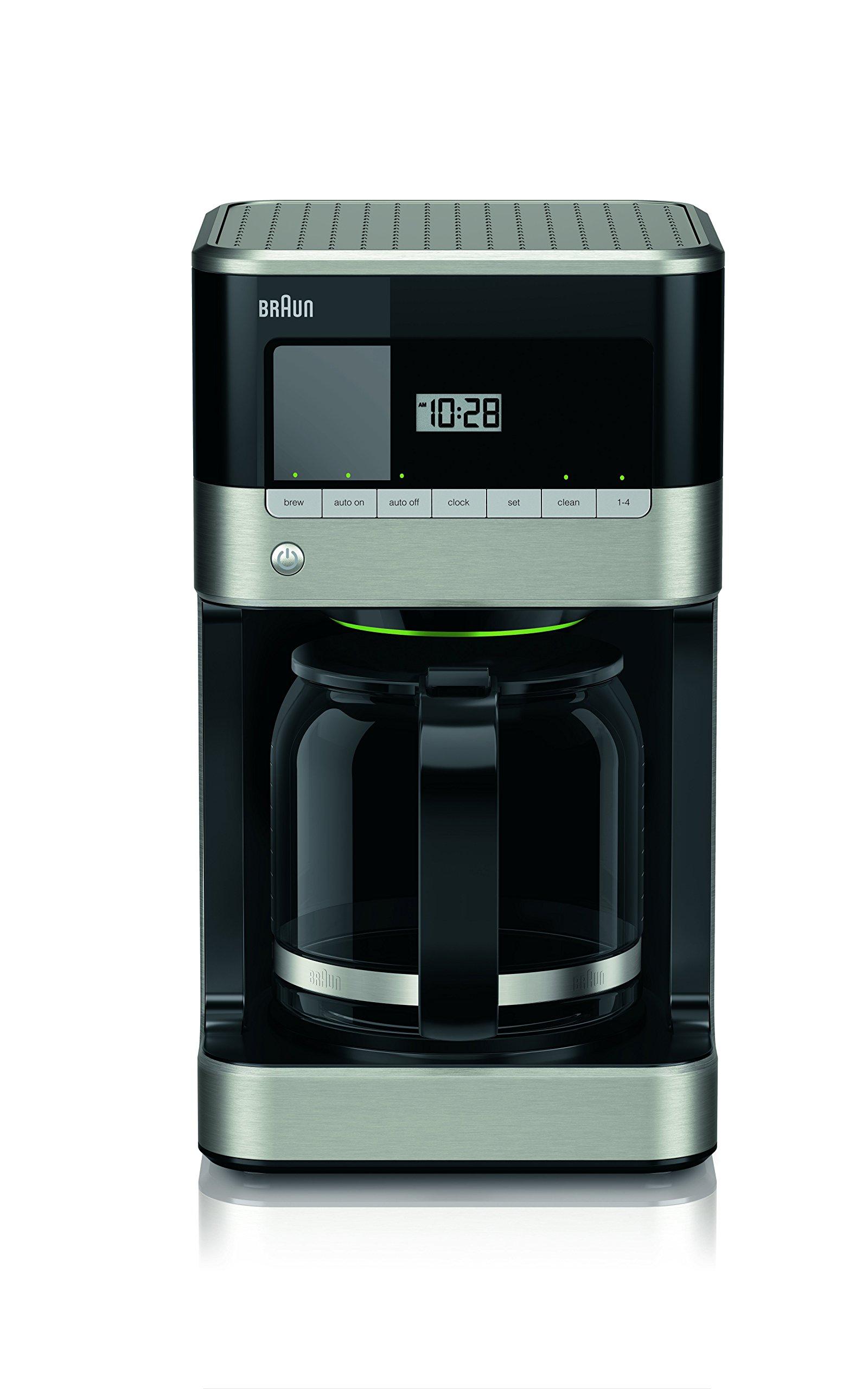 Braun KF6050BK Brewsense Drip Coffee Maker, 12-Cup (Black)