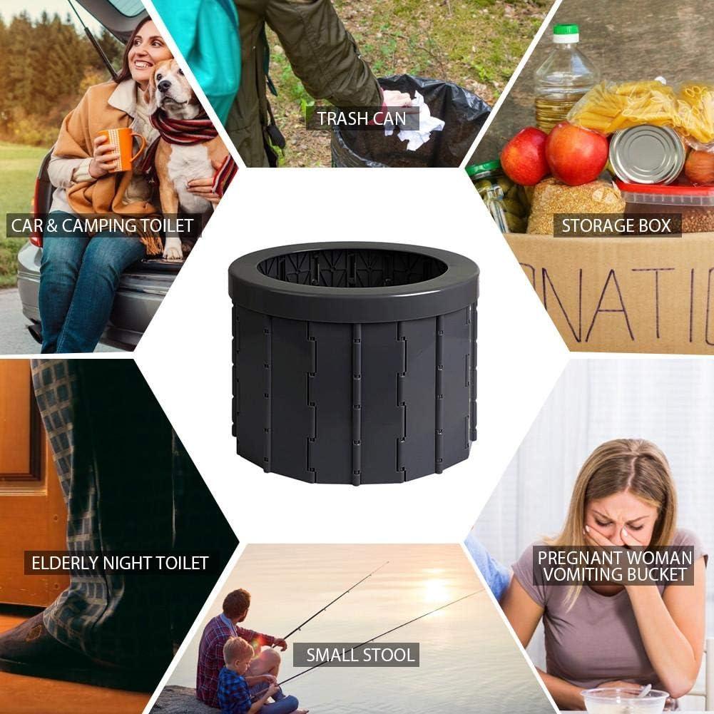 Toilette Portatile Pieghevole Toilette da Campeggio Lavabile Hemistin Toilette da Campeggio Allaperto