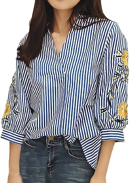 Blusas De Mujer Elegantes Primavera Verano Vintage Bordadas ...