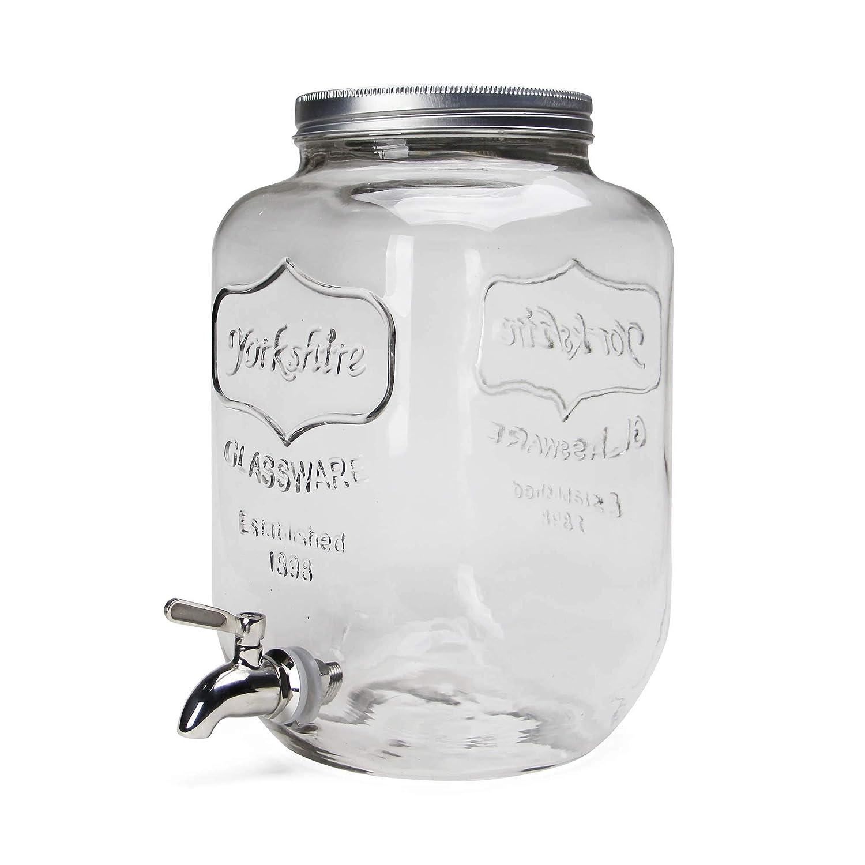 Yorkshire Mason Jar Bebidas Dispensador Yorkshire Mason Jar Bebidas Dispensador: Amazon.es: Hogar