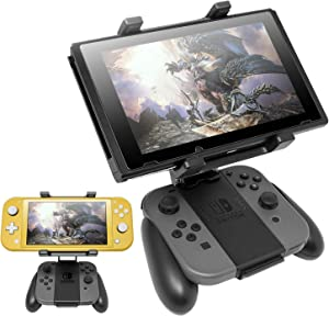 Handle Bracket for Nintendo Switch Joy-Con, Adjustable Clip Clamp Mount Holder for Nintendo Switch/Nintendo Switch Lite Console