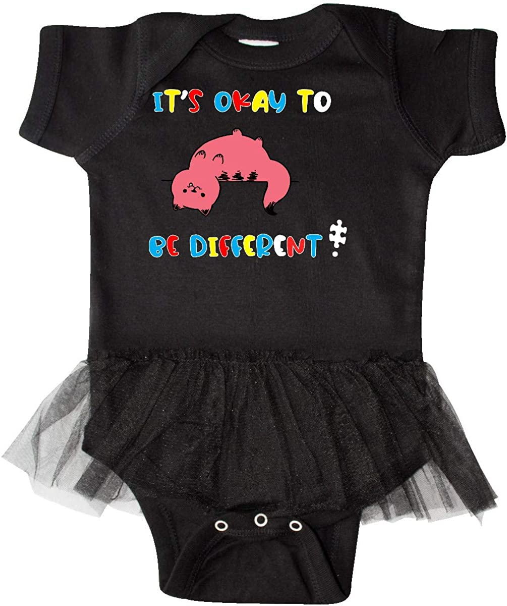 inktastic Autism Awareness Its Okay to Be Different Silly Infant Tutu Bodysuit
