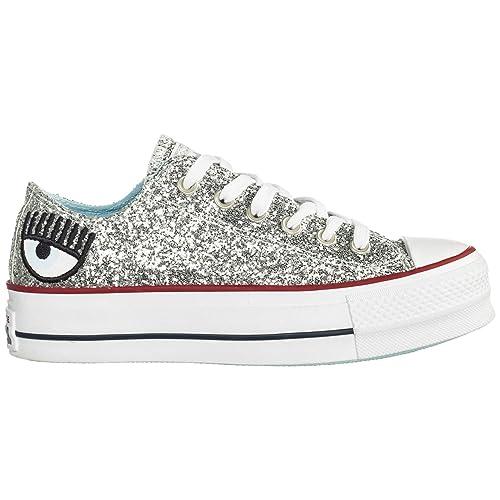 E 40 Sneakers Chiara Ferragni Donna EuAmazon Silver itScarpe Borse R543AjL