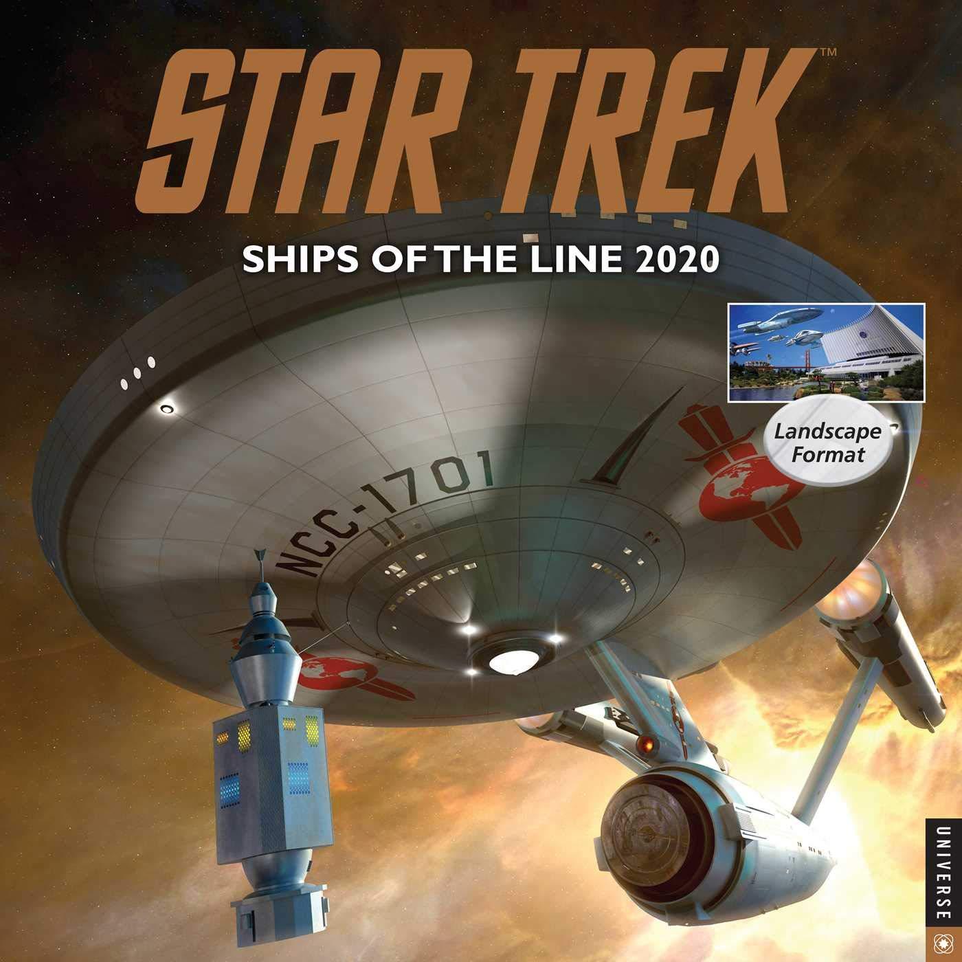 Star Trek Ships of the Line 2020 Wall Calendar by Universe Publishing