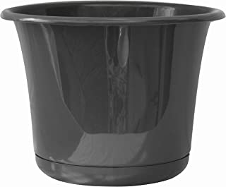 "product image for Bloem EP08908 Expressions Planter w/Saucer 8"" Charcoal"