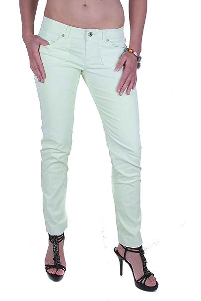 Diesel Mujer Pantalones Vaqueros Ajustados Originas Amarillo ...