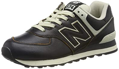 New Balance Mens BlackWhite 574 Sneakers