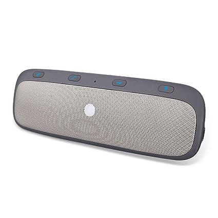 GHB Manos Libres para Coche Bluetooth Receptor Coche Automóvil Bluetooth 4.0 Altavoces para la Visera Soporta