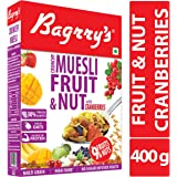 Bagrry's Crunchy Muesli, Fruit and Nut with Cranberries, 400 GM
